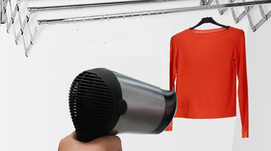 Máy sấy tóc giúp hong khô quần áo nhanh hơn