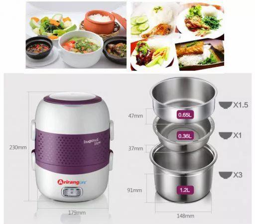 Sản phẩm được thiết kế nhiều ngăn chia thức ăn rất là tiện ích
