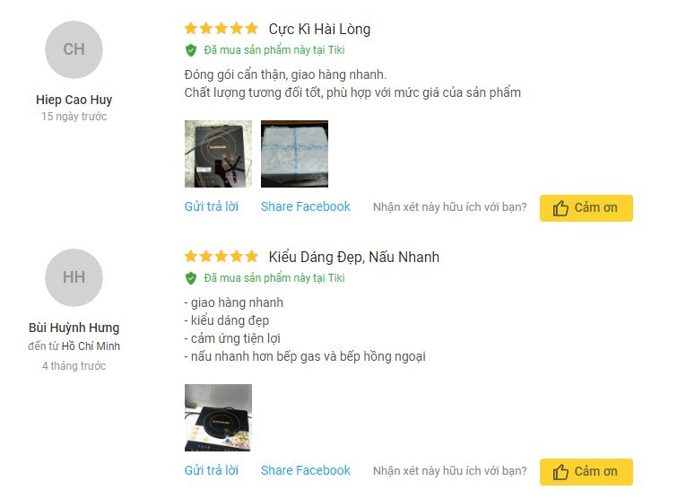 Người dùng khá hài lòng về chất lượng sản phẩm