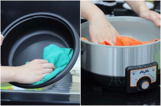 Chọn loai nồi rời sẽ dễ dàng hơn trong việc vệ sinh, lau chùi