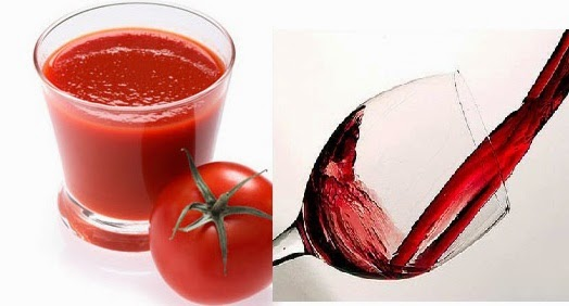 Rượu và cà chua là món đại kị