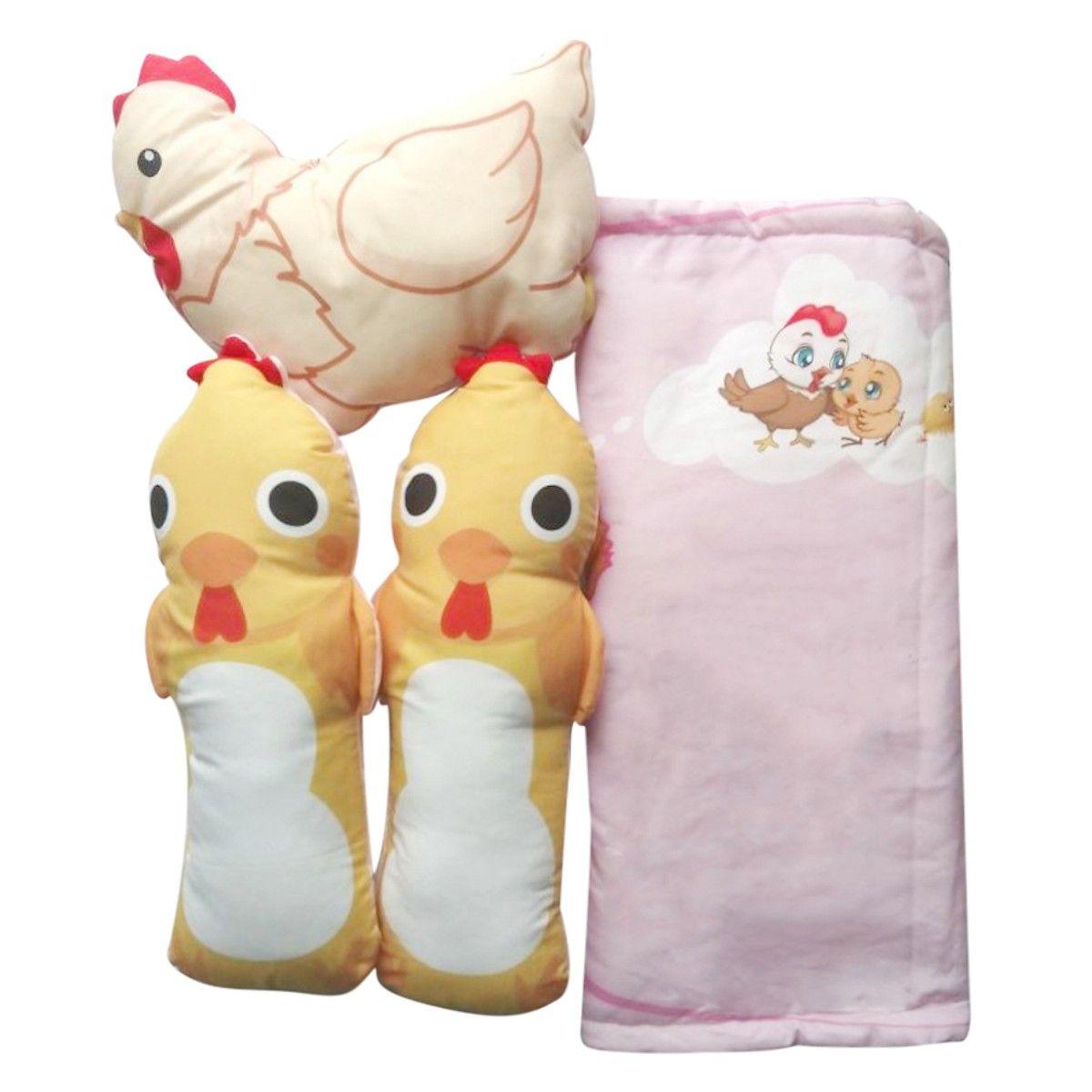 Bộ nệm cho bé Thái Toàn TT-PIMG (65 x 110 cm) - Hồng