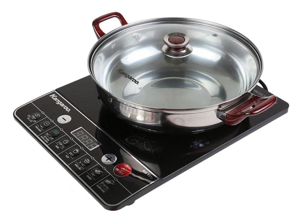Bếp điện từ Kangaroo KG351i có thiết kế màu đen mang đến sự sang trọng cho căn bếp của bạn.