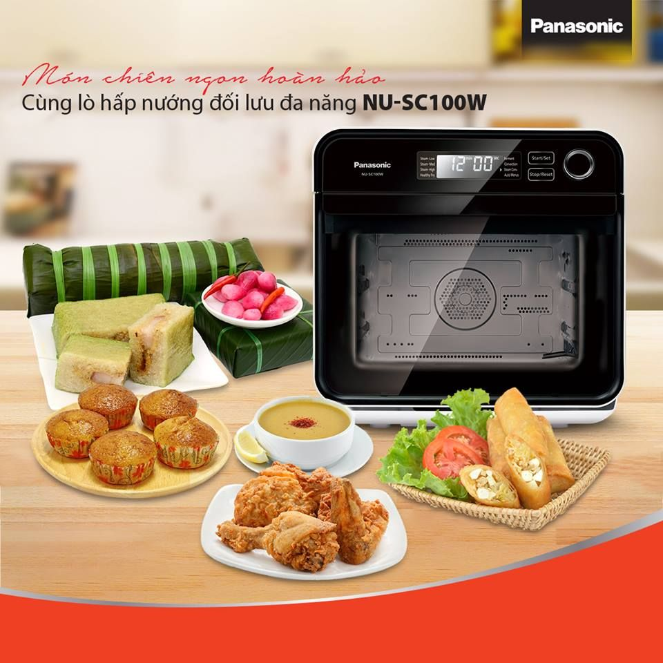 Lò nướng hấp Panasonic được trang bị 17 chế độ nấu khác nhau, là một trợ thử đắc lực cho các bà nội trợ.