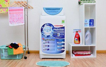 Máy giặt Toshiba AW-F920LV WB để trong nhà riêng vô cùng nhỏ gọ