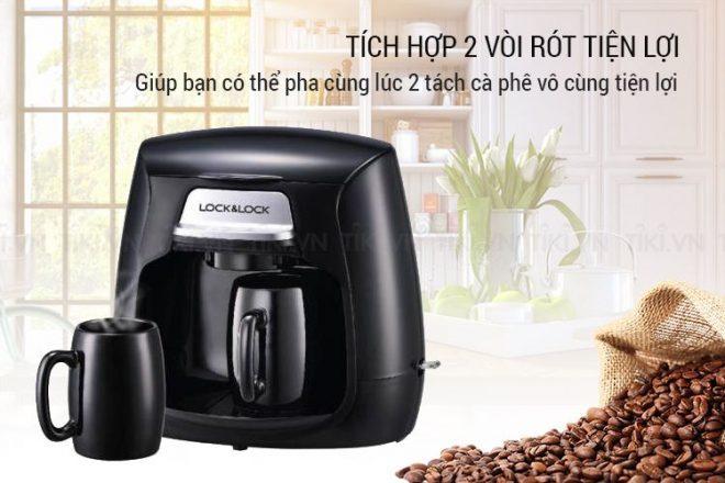 Được trang bị 2 vòi rót cafe, giúp bạn có thể pha 2 tách cà phê cùng 1 lúc, vô cùng tiện lợi.