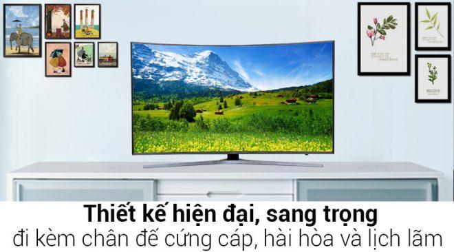 Kết quả hình ảnh cho SMART TIVI Cong Samsung 55 inch UA55JU6600