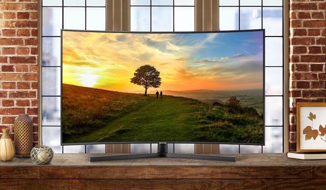 Smart Tivi màn hình cong Samsung 55 inch UHD 4K UA55NU7500KXXV