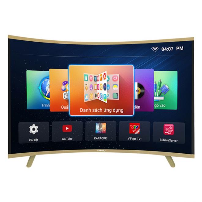 Smart Tivi màn hình cong Asanzo 40 inch HD 40CV6600