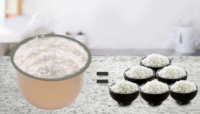Hạt gạp nấu thành cơm thơm ngon cho những bữa ăn