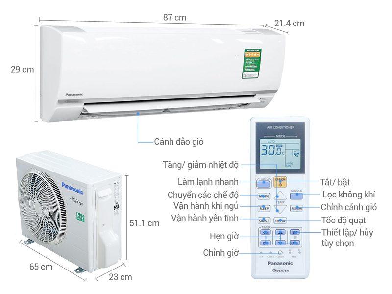 Phụ kiện kèm theo khi muamáy lạnh Panasonic CU/CS-PU9UKH-8