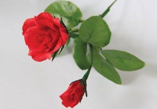 Hoa hồng bằng giấy nhún