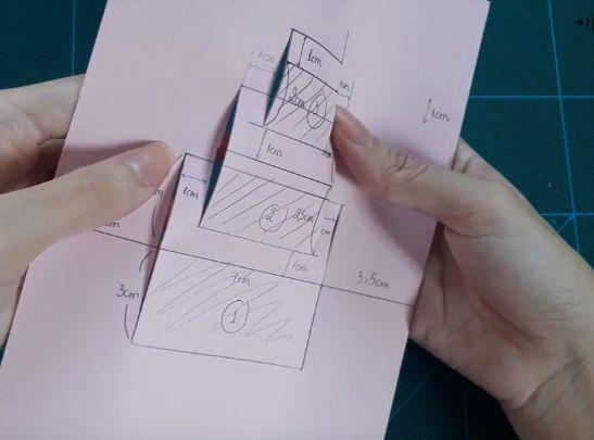 Rọc tất cả những đường bên hông của hình hộp