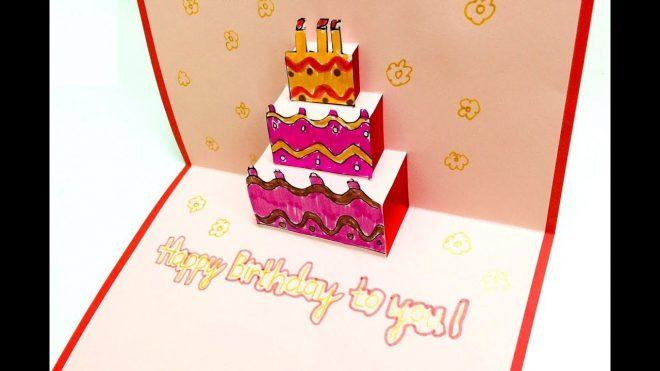 Thiệp sinh nhật 3D xinh xắn dành tặng cho bạn bè và những người thân yêu