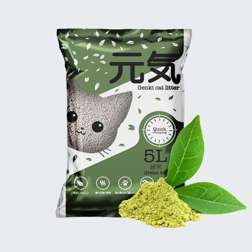 GENKI hương trà xanh với hạt cát sét khá to