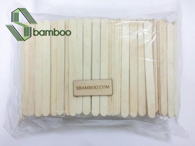 bộ que kem gỗ 1kg 900 cây của SBAMBOO. Que gỗ dày, chắc chắn