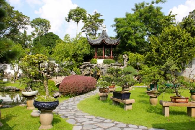 Tiểu cảnh sân vườn phong cách Trung Hoa