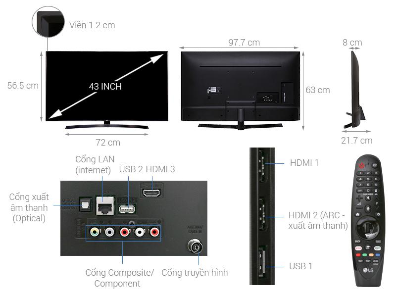 Smart Tivi LG 43 inch 43UK6340PTF 04