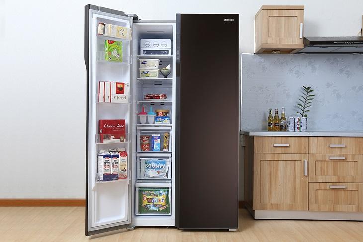 Tủ lạnh side by side - dòng tủ lạnh cao cấp có kích thước lớn bán chạy nhất