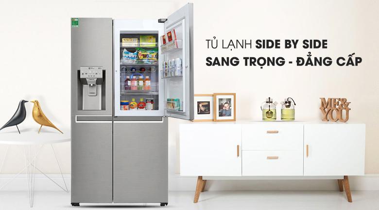 Tủ lạnh side by side LG 601 lít sang trọng đẳng cấp