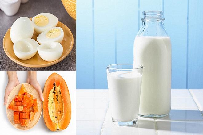 Mỗi tối hãy kết hợp uống một ly sữa bò ấm và ăn một quả trứng gà luộc trước khi đi ngủ 2 tiếng, chỉ sau khoảng thời gian ngắn bầu ngực của chị em sẽ thay đổi theo hướng tích cực rõ rệt.