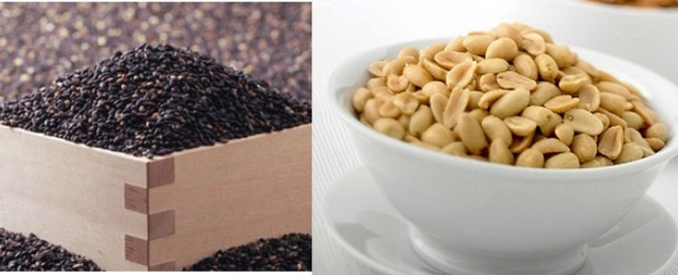 Vừng đen và lạc giàu vitamin E giúp cải thiện vòng 1 tự nhiên và hiệu quả