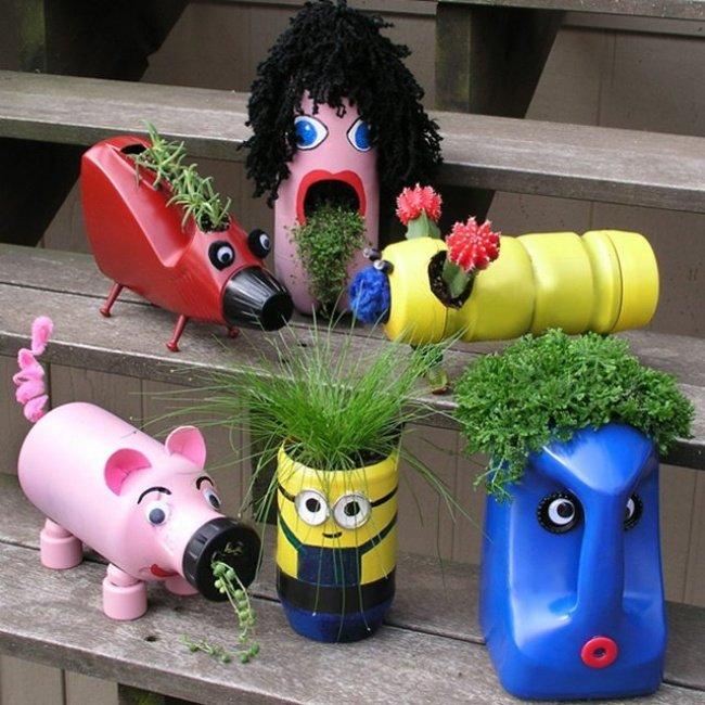 Bộ sưu tập lọ hoa hình các con vật đáng yêu sẽ khiến khu vườn nhà bạn trở nên ấn tượng và thú vị