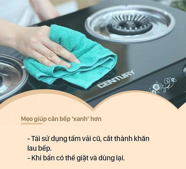 Sử dụng khăn, vải vụn thay thế các loại giấy