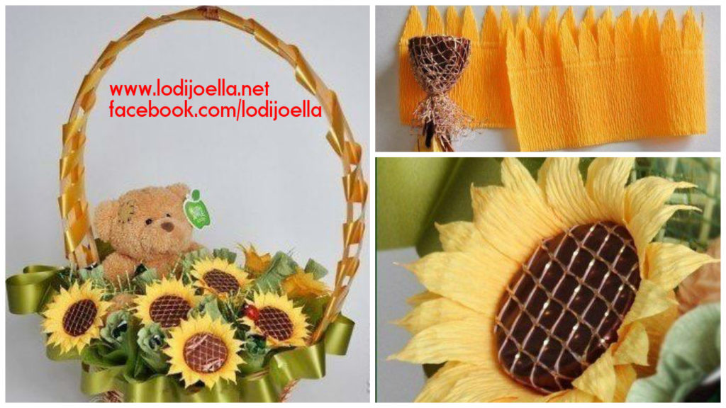 canasta girasoles chocolates regalo día de la madre8