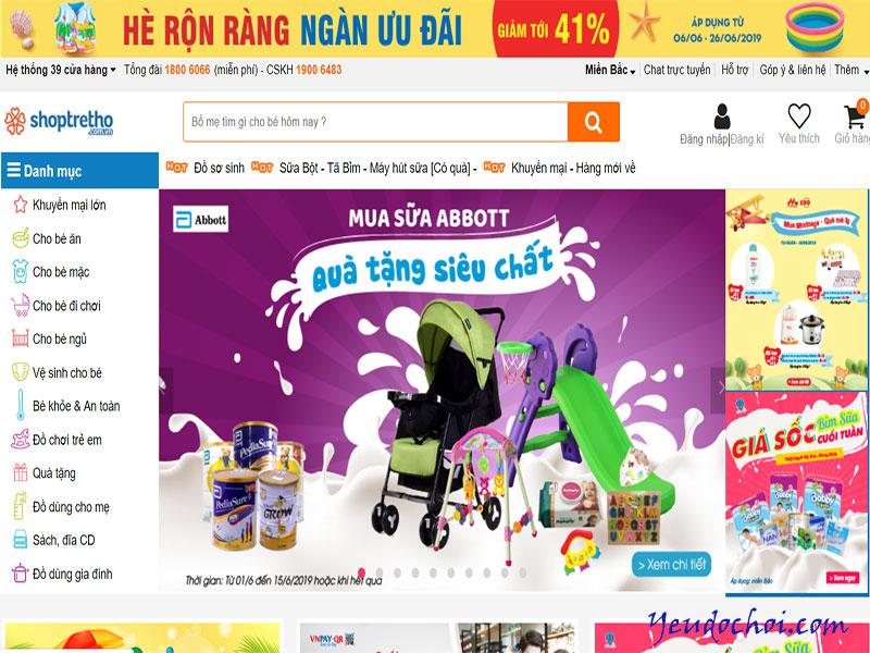 Shoptretho.com.vn – Chuyên các mặt hàng mẹ và bé
