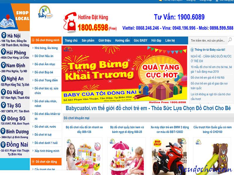 Babycuatoi.vn – Thế giới đồ chơi cho trẻ em