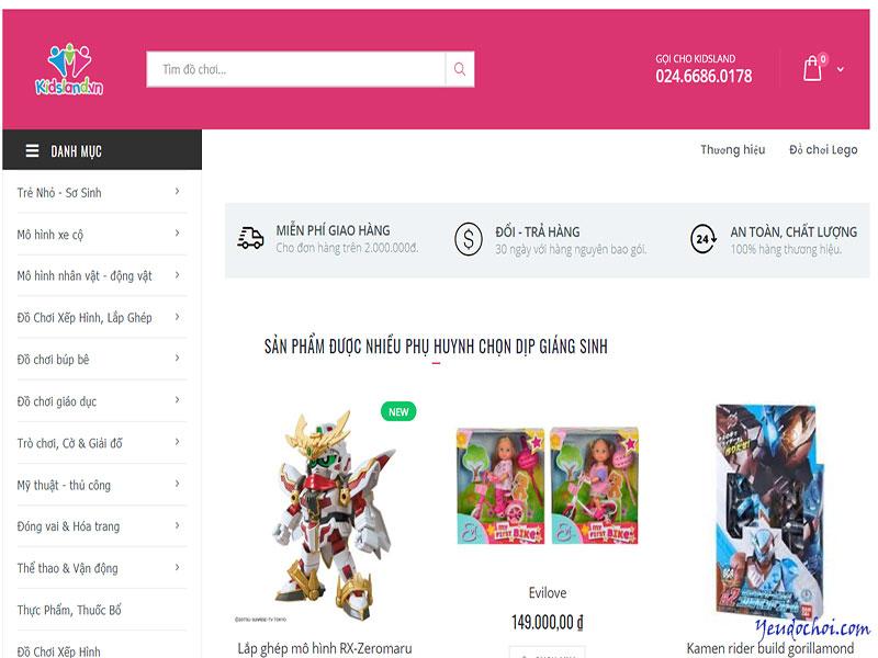 Kidsland.vn – Hệ thống đồ chơi trẻ em