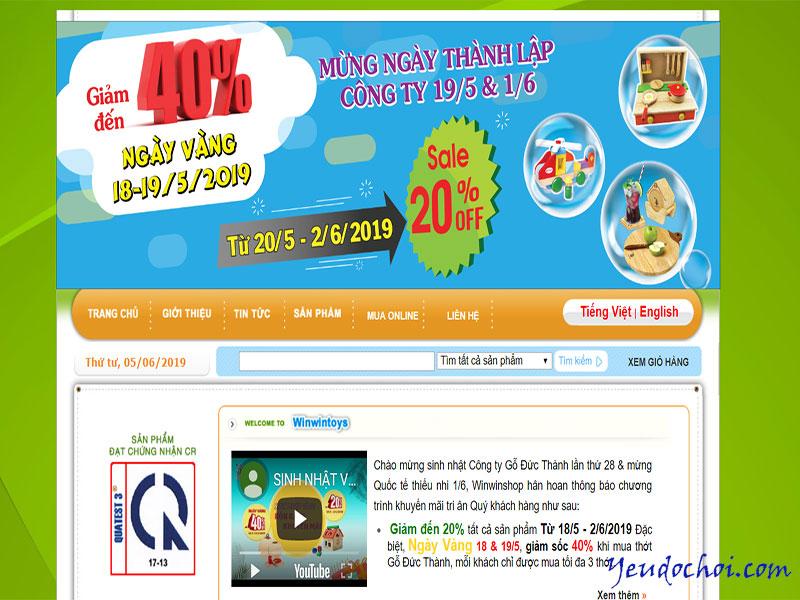 Winwintoys.com – Trang web bán đồ chơi trẻ em bằng gỗ