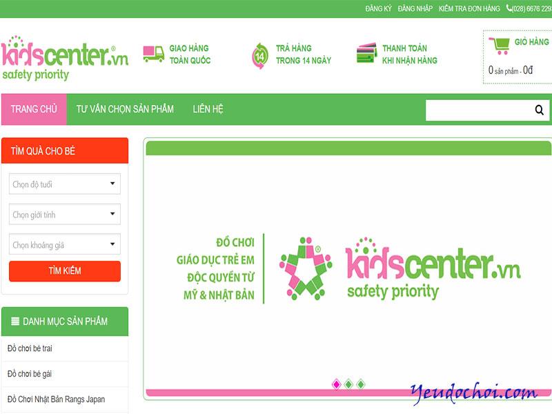 Kidscenter.vn – Trang web bán đồ chơi trẻ em giá rẻ uy tín