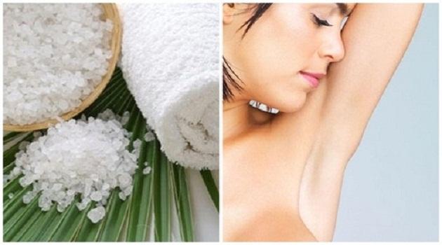 Phèn chua là một dạng muối có kích thước tinh thể khác nhau, có tác dụng diệt khuẩn rất tốt nên thường được dùng để khử mùi hôi nách rất hiệu quả.