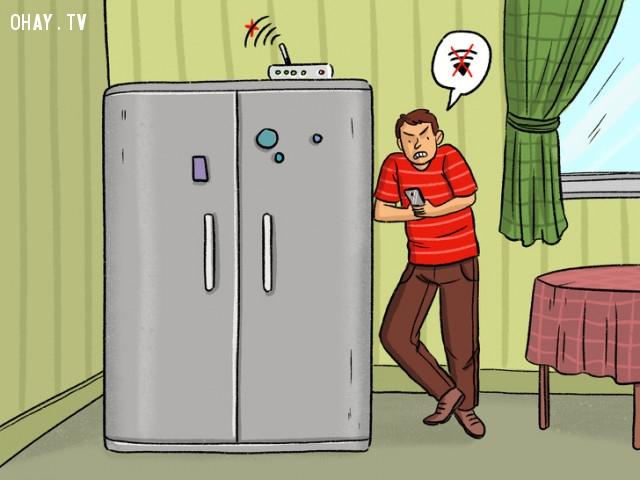thiết bị làm chậm sóng wifi