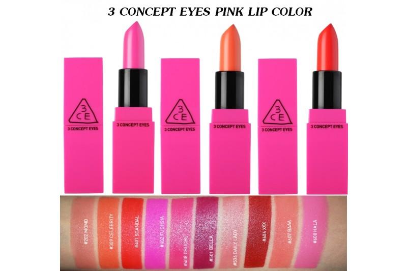 3CE Pink Lip Colour 1