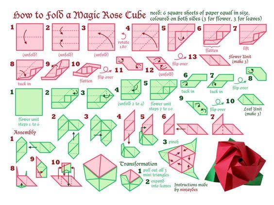 Bông hoa hồng Origami khá phức tạp((