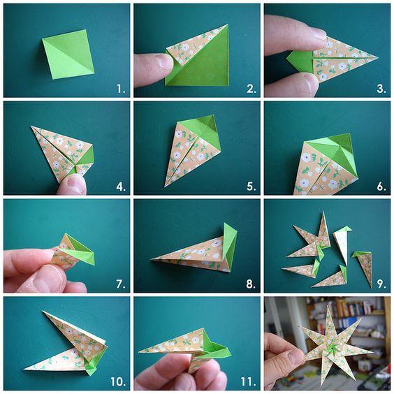 Cách xếp Origami hình ngôi sao 7 cánh
