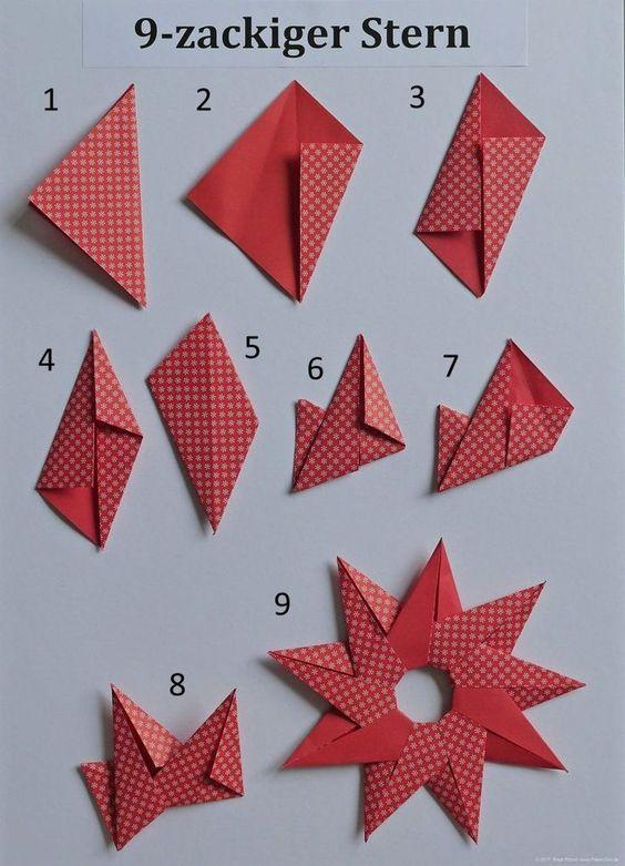 Cách xếp Origami hình ngôi sao 9 cách