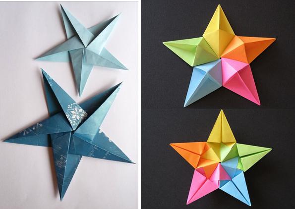 Mẫu xếp Giấy Origami hình ngôi sao khác