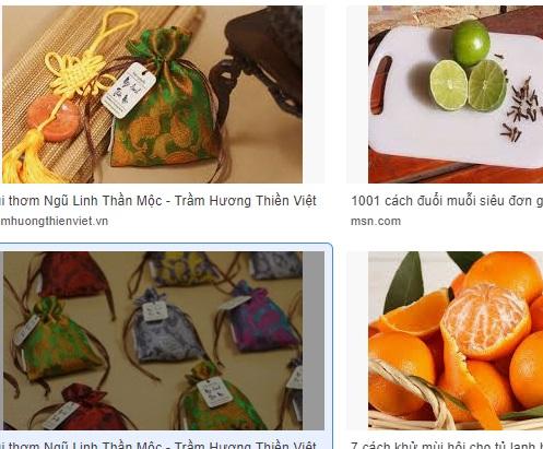Túi thơm từ vỏ cam