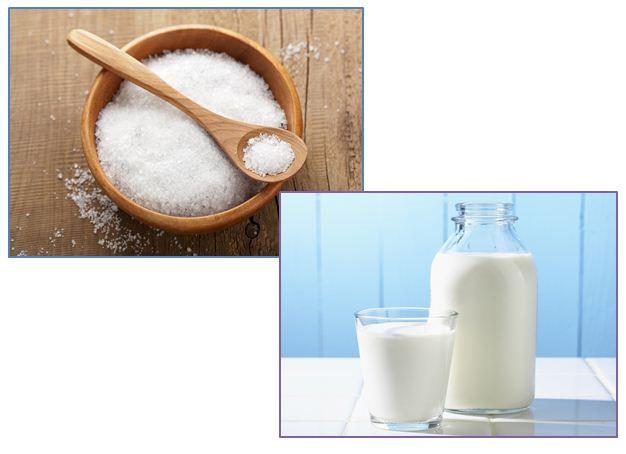 Thành phần của sữa tươi khá giàu các dưỡng chất vitamin A, D, B6, B12, canxi, sắt, protein và các khoáng chất không chỉ rất tốt cho sức khỏe mà còn giúp dưỡng da tuyệt vời. Đặc biệt khi kết hợp sữa chua với muối giúp loại bỏ hoàn hảo lớp tế bào chết sần sùi trên da hiệu quả.