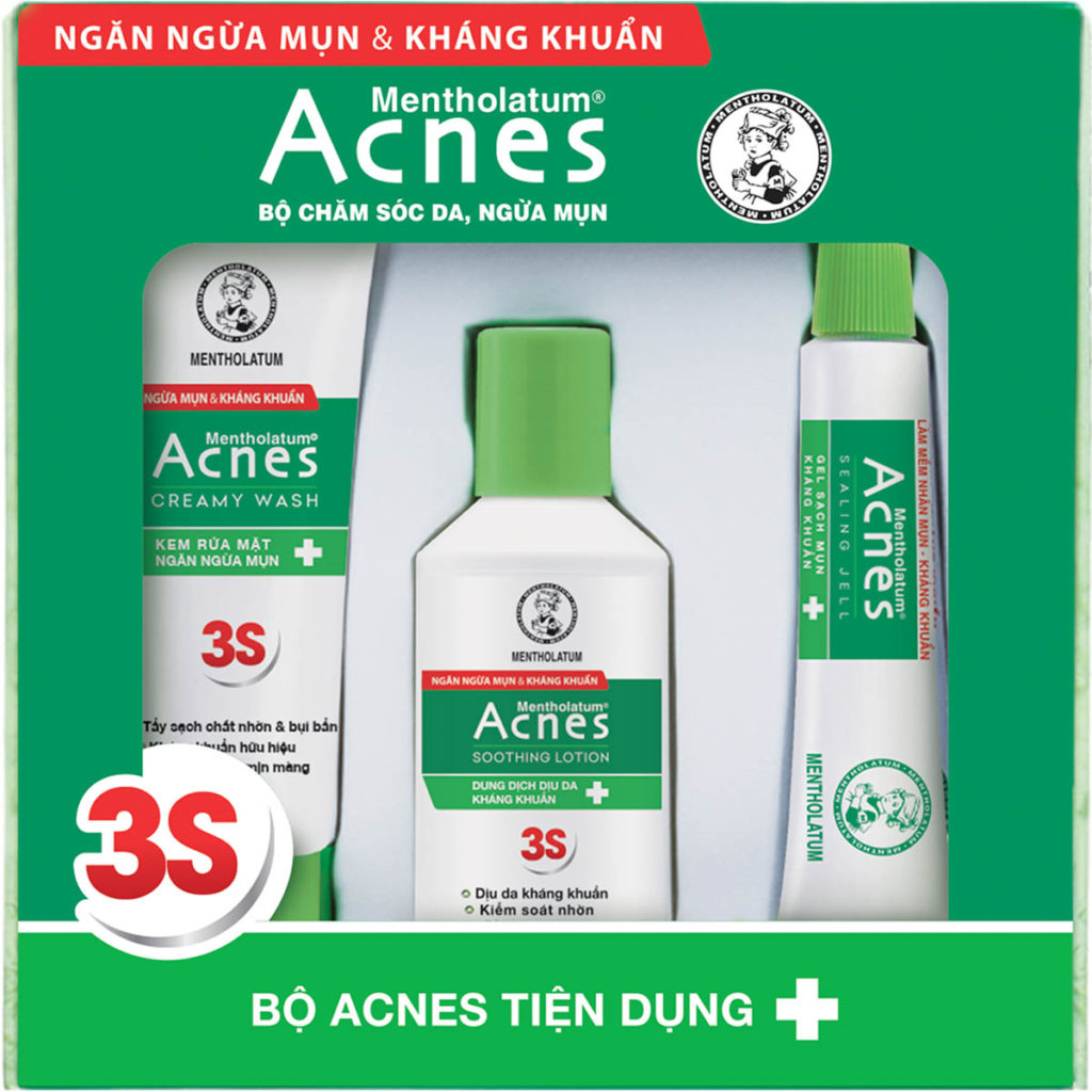 bo san pham tri mun acnes tien dung acnes trial set