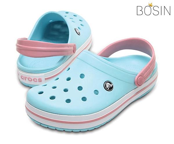 giay dep crocs band mau xanh lam 5