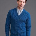 Cách đan áo len nam cổ tim đơn giản mà sang trọng cho ông xã.