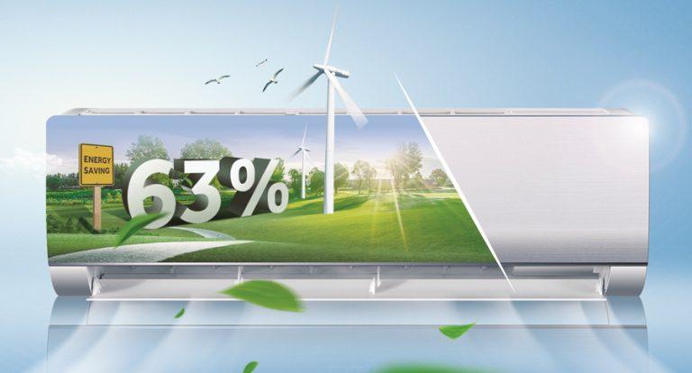 Máy Lạnh Inverter Aqua AQA-KCRV9WJB tiết kiệm điện năng đến 63%