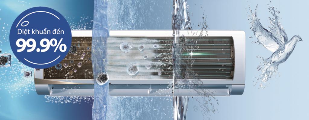 Máy Lạnh Inverter Aqua AQA-KCRV9WJB được sản xuất theo công nghệ Nhật Bản