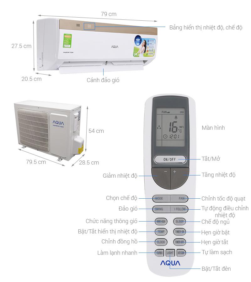 Cách sử dụng máy lạnh Aqua AQA-KCRV9WJB 1 HP