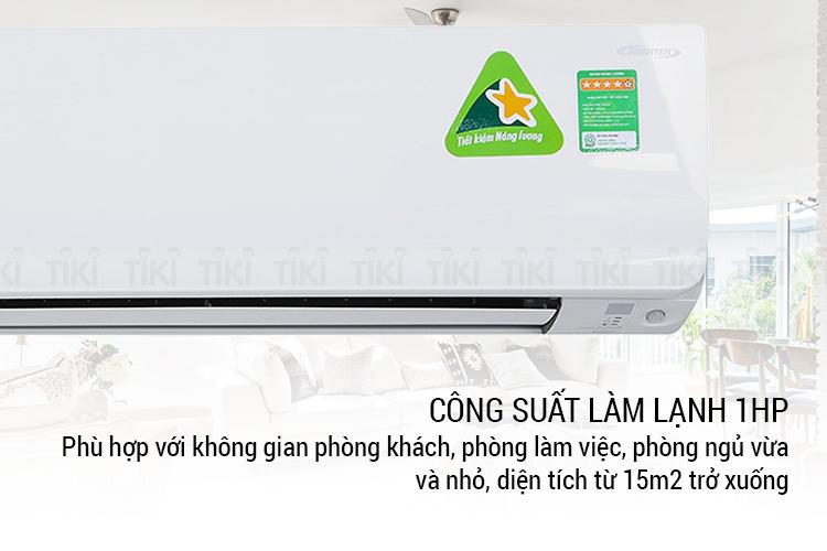 Máy Lạnh Daikin FTKC25TVMV/RKC25TVMV Inverter phù hợp với không gian dưới 15 mét vuông
